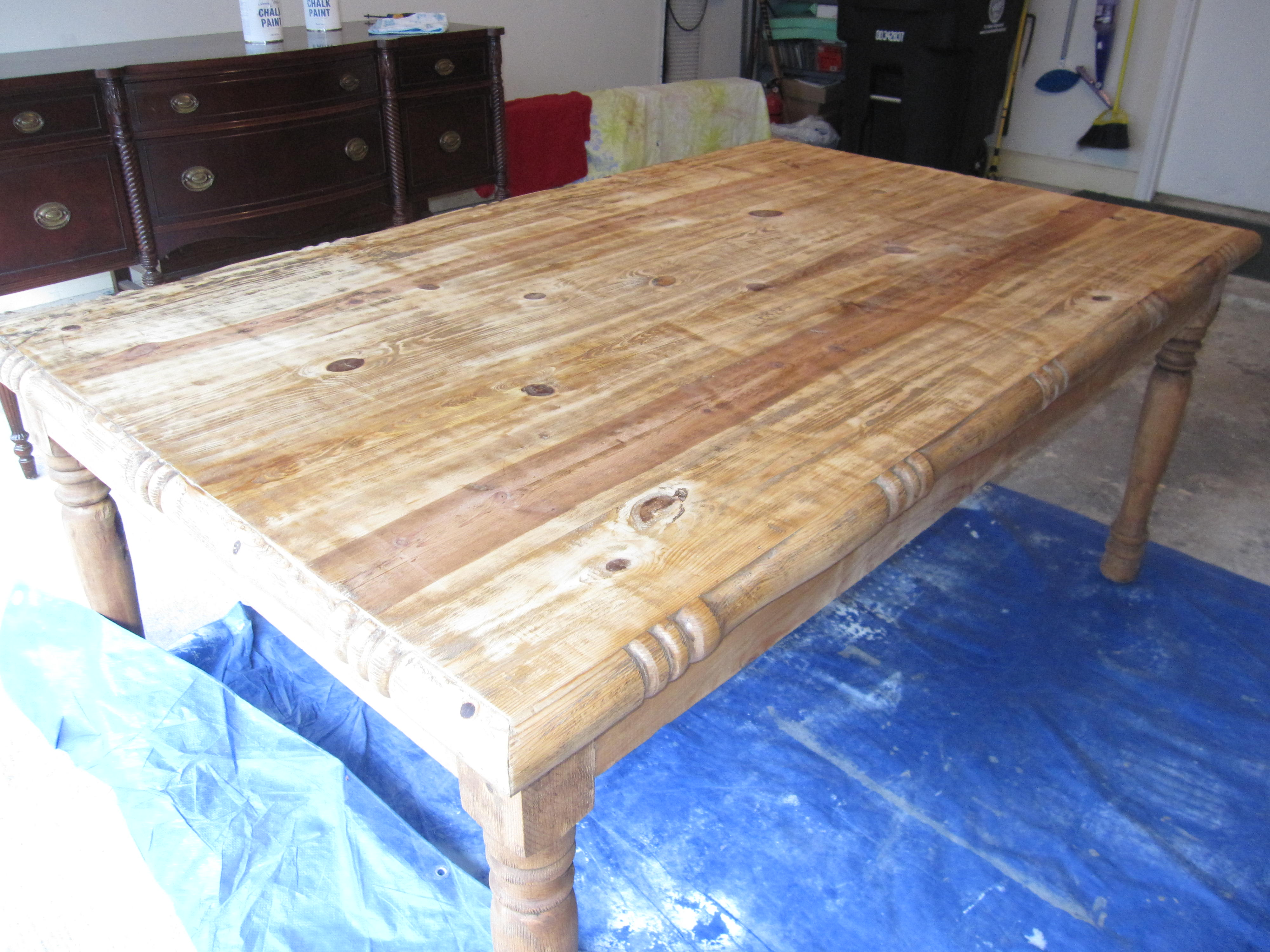 Weathered Mexican Pine Dining Table