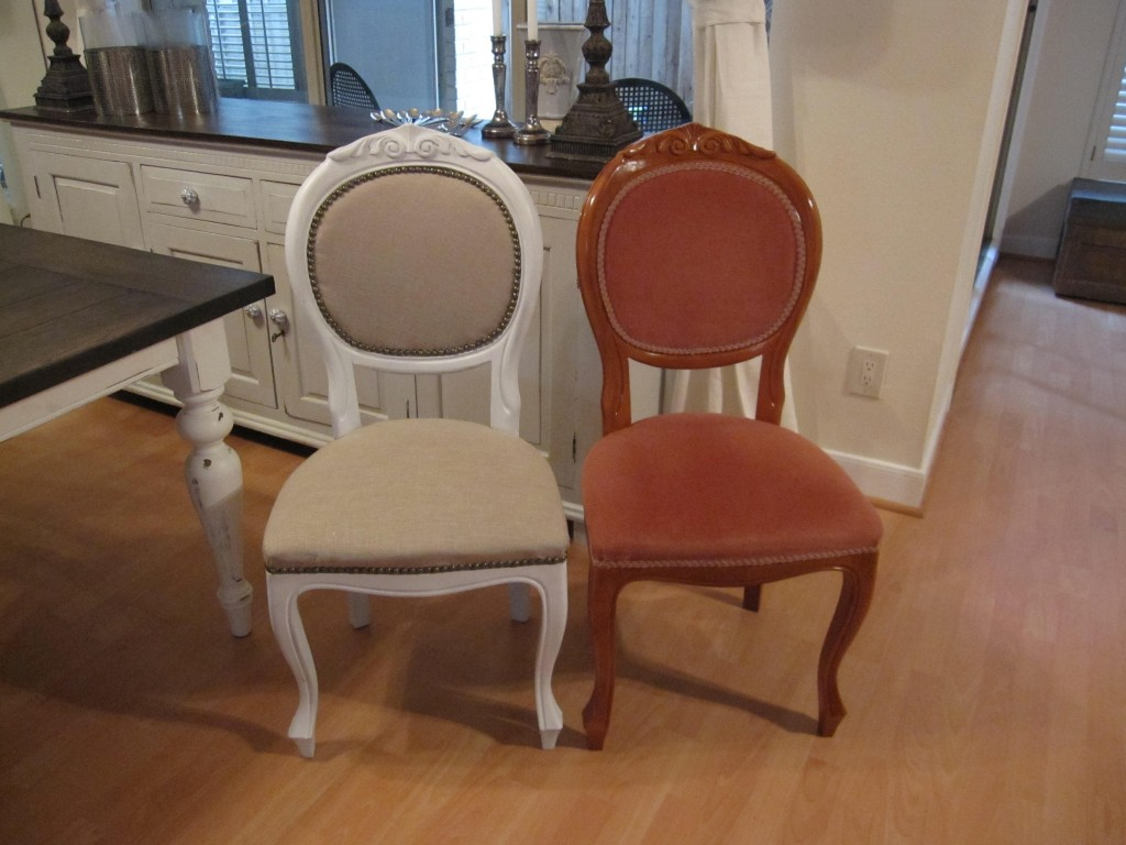 Refinished dining room chairs houston furniture