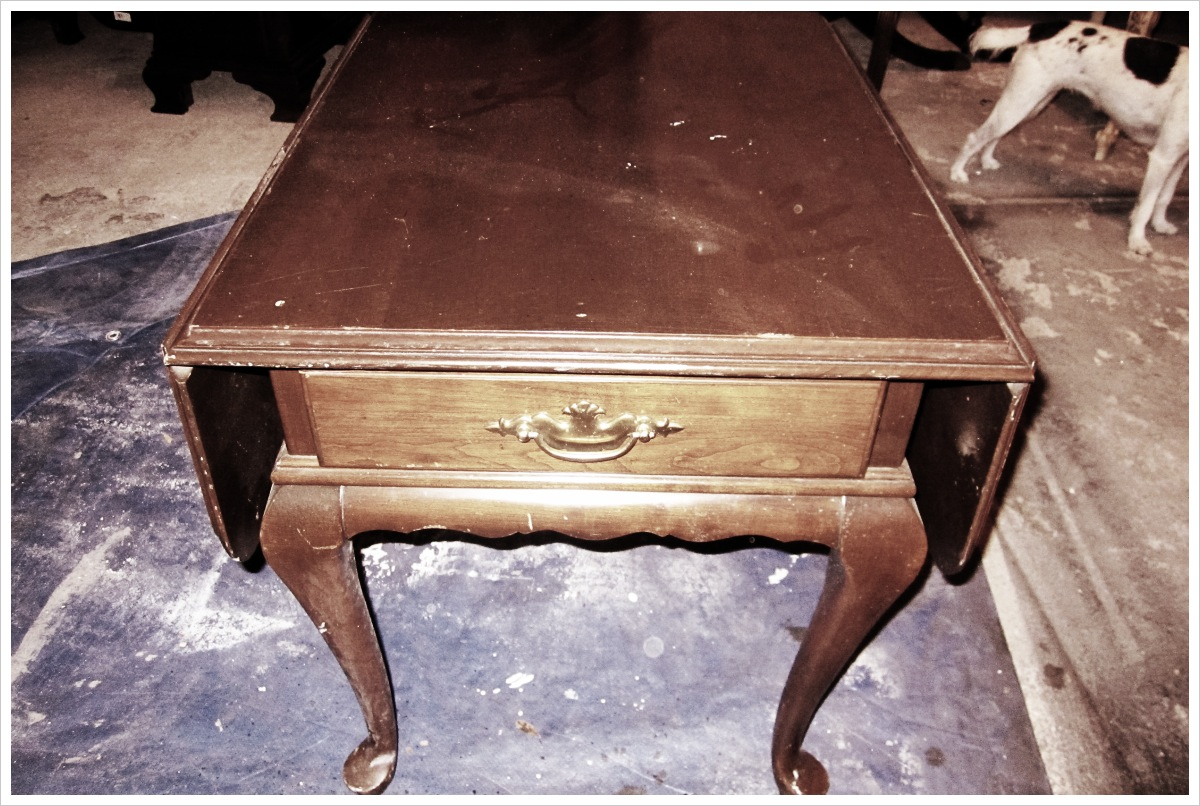 Vintage Ethan Allen Side Table Houston Furniture Refinishing Lindauer Designs