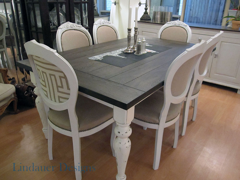 Dining table wood dining table refinishing - Refinish contemporary dining room tables ...