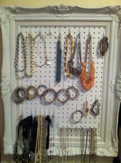 DIY Jewelry Organizer Picture Frame Houston Furniture Refinishing