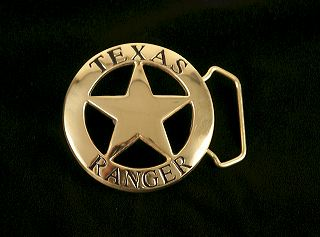 Texas Ranger Belt Buckle